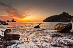 San Juan de Gaztelugatxe `[Explore] (saki_axat) Tags: sunset sea sky seascape nature water clouds landscape waves explore sanjuan bakio bermeo gaztelugatxe