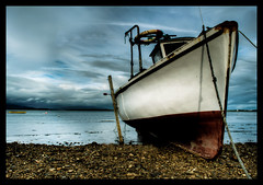 Resting place (rob o hara- gone for a bit) Tags: ireland sea clouds boat nikon mayo westport hdr d90 5xp