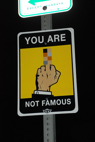YOU ARE NOT FAMOUS