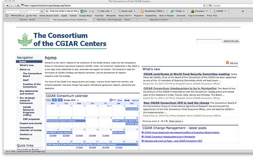 Consortium of CGIAR Centers website