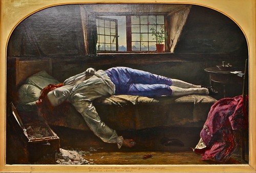 """Chatterton"" by Henry Wallis, 1856"