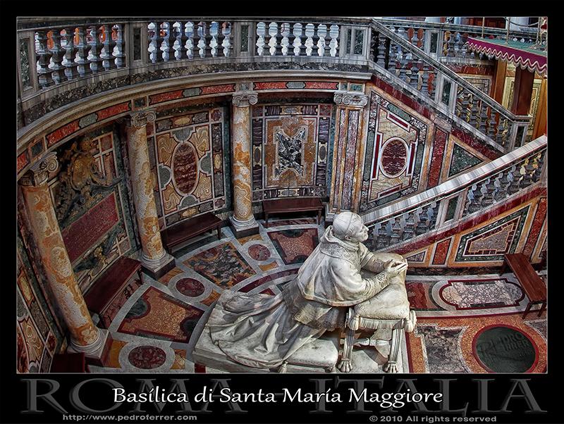 Roma - Basilica de Santa María la Mayor  - Papa Pío IX