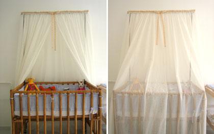 crib with mosquito net