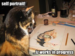 lolcat: self portrait! ...iz works in progress.