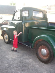 My nephew Sean explores the prop truck