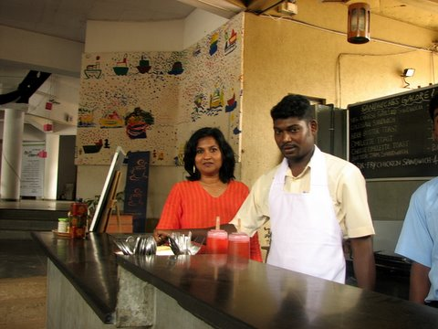anju and her canteen at Ranga Shankara 3 July 07