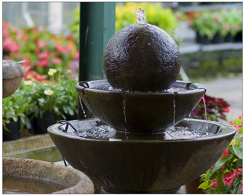 Fountain at Behnke Nursery
