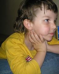 Watching Ice Age (Messed Up Mama) Tags: boy watchingamovie