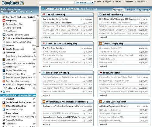 Bloglines: Quick View