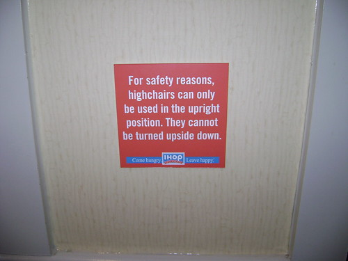 IHOP Warning
