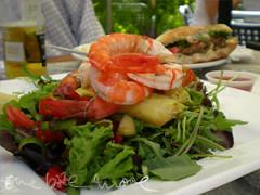 prawn salad at the lord roberts