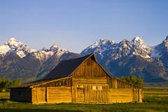Morning Sun Hits The Barn (helikesto-rec) Tags: wyoming grandtetonnationalpark mormonbarn