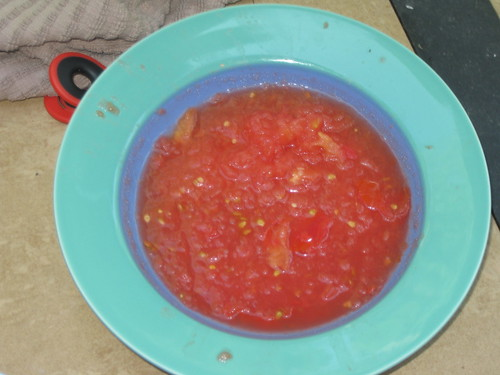 grated tomato