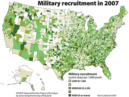 Geography of Military Recruits