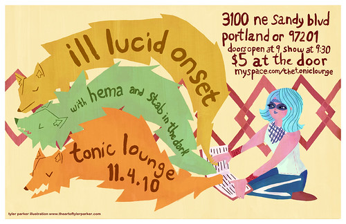 Ill Lucid Onset gig poster 11.4.10
