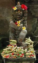 Bali (Ziemek T) Tags: bali flower statue indonesia hindu ubud lpflowers