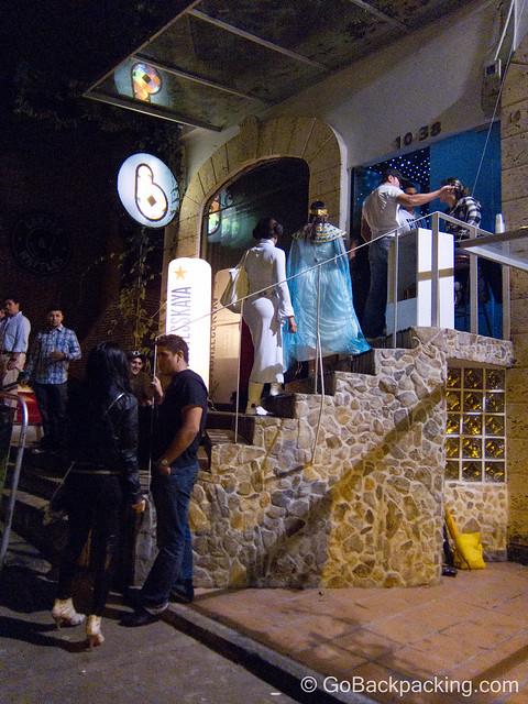 Entrance to B-Lounge