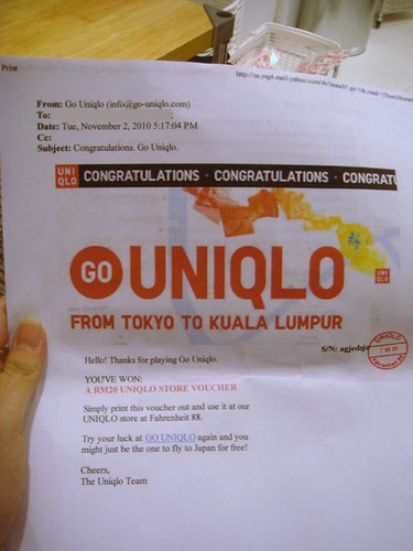 Uniqlo Vouchers