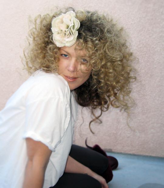huge white girl afro curls