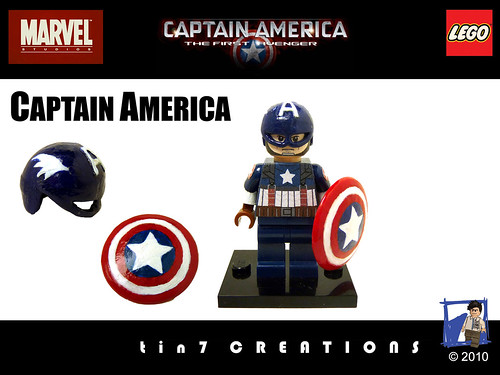 how to make a custom lego captain america