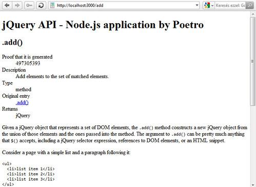 jQuery API add() függvény
