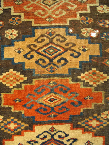 Handwoven rug from the T.C. Steele collection