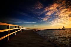 the boardwalk (hoogen imagery) Tags: blue clouds sunrise bravo australia victoria geelong easternbeach magicdonkey coriobay hoogenimagery auselite