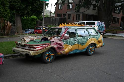 Drala the Dragon Art Car By Bruman of Berkeley, CA