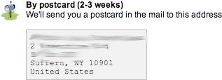 Google Maps Verify Busines by Postcard Mail