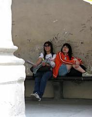 tourists outside uffizi273 (tamsen ellen) Tags: italy florence tourist uffizi