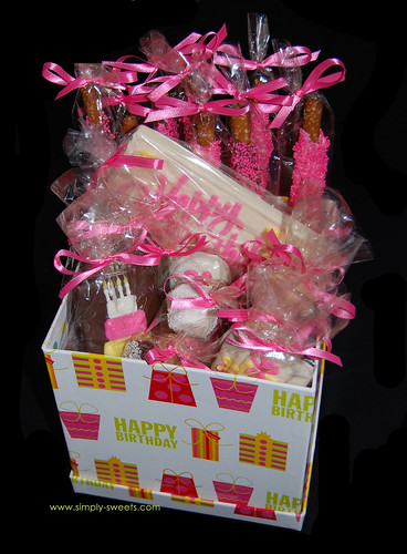 pink birthday box