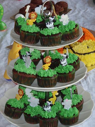 Beautiful Jungle Cupcake Toppers