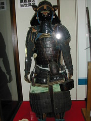 Samurai Armour (Yoroi) on Display at Matsumoto Castle () Nagano Japan (CharleyMarley) Tags: japan museum ninja helmet tools sword  nippon samurai katana nagano nihon weapons ninjutsu universityofutah kabuto  bushi  uofu japan2004   togakushi ninjitsu       ninjamura  arts karakuri  shinshuuniversity martial chibikko
