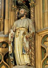 Lige, Wallonie, glise St.-Jacques, St. Peter (groenling) Tags: saint book boek key pierre peter livre petrus luik lige cl corbel wallonie heilige sleutel glisestjacques
