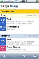 Google Calendar Mobile Update