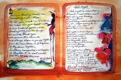 the shaman's juournal poems (hialoakapua) Tags: travel santafe art watercolor painting journal soul medicine advice poems healing shaman wellness shamanism healer machado hialoakapua shamanicart lastnightasiwassleeping shamansjournal billholm wwwrosslewallencom