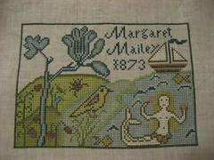 Mermaid Sampler (Deep Fried Cupcake (Andrea)) Tags: crossstitch sampler embroidery stitching mermaid carriagehousesamplings barricksamplers