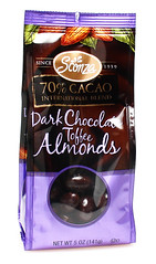 Sconza 70% Dark Chocolate Toffee Almonds
