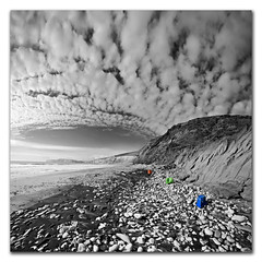 RGB (s0ulsurfing) Tags: light wild sky blackandwhite bw panorama cliff cloud sunlight white seascape black beach nature rock clouds composition contrast trash photoshop cutout square landscape island grey mono bay coast march sand scenery rocks skies natural compton wide perspective shoreline fluffy wideangle monotone ps warp warped cliffs coastal filter shore windswept isleofwight rubbish vista coastline foundart grad rgb landschaft ultrawide isle 2009 diffused squared rugged wight altocumulus selectivecolour 10mm postprocessing comptonbay sigma1020 mackrelsky nd4 s0ulsurfing vertorama altocumulusstratiformisradiatus