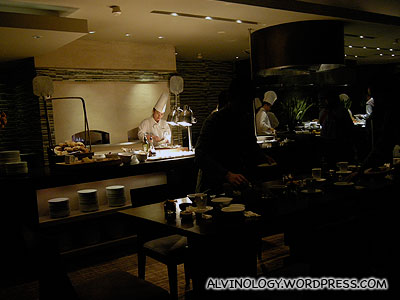 Inside Aroma restaurant