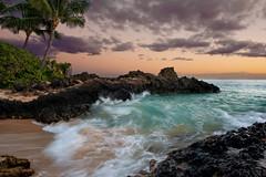 Tropical Paradise (mojo2u) Tags: ocean sunset beach hawaii pacific cove secretbeach maui makena mauihawaii makenacove nikond700 nikon2470 coth5 passiondclic
