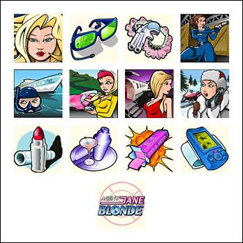 free Agent Jane Blonde slot game symbols