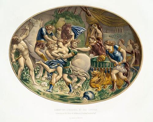 002-Batalla de los centauros- colecciones del Sr. Andrew Baron y esqe Sellières-Monographie de l'oeuvre de Bernard Palissy…1862