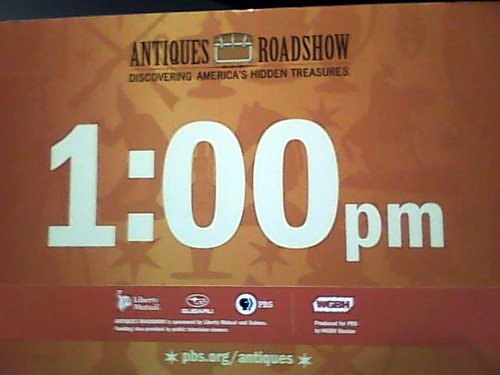 Antiques Roadshow - Our Queue Sign
