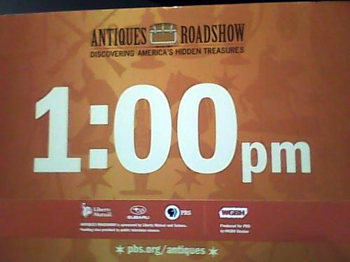 Antiques Roadshow - Our Queue Sign