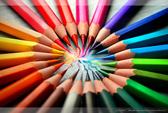 Colored pencils III - Circle of colors (Thibosco17) Tags: world life blue light red orange white france color macro green art colors beautiful yellow contrast pencils photoshop jaune circle french rouge photo high rainbow nikon focus mine noir purple image drawing lumire couleurs violet vert line bleu explore exposition target colored jolie crayons crayon blau coloredpencils amateur blanc hdr bois crayola cercle rosepetal d60 stylo trait rainbowcolors crayonsdecouleurs mywinners platinumphoto colorphotoaward worldofcolors mygearandme thibosco colorslife