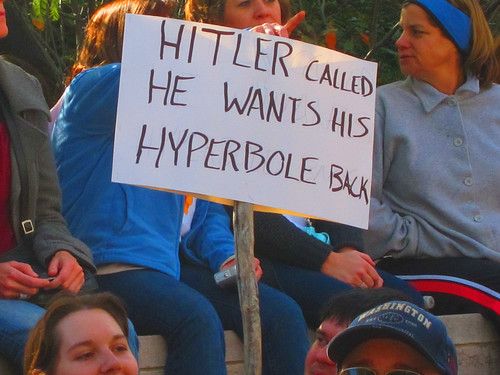 Hitler Called He Wants His Hyperbole Back