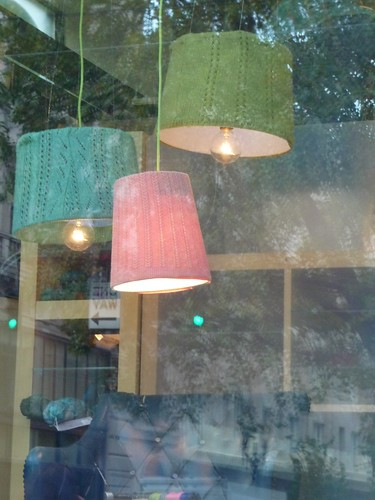 Knit/Purl Window - Knit Lamp Shades