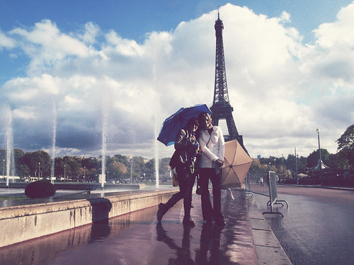 Dancing in the Paris rain
