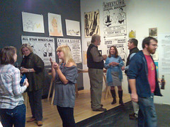 The crowd at the gallery